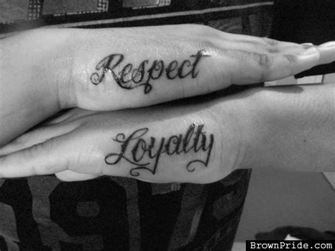 loyalty and respect tattoos 50 awesome respect tattoos