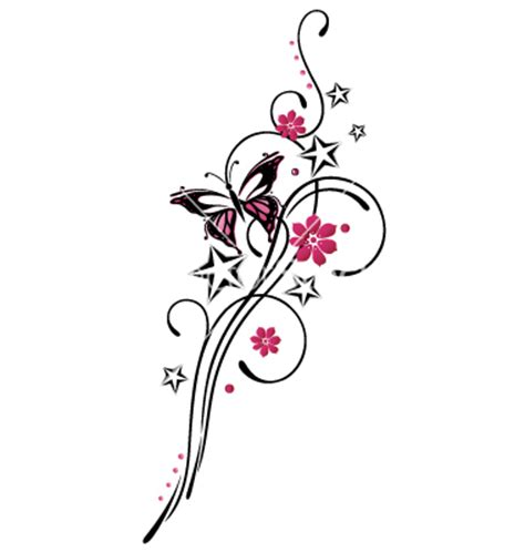 tribal flower butterfly tattoo style vector 1534746 by