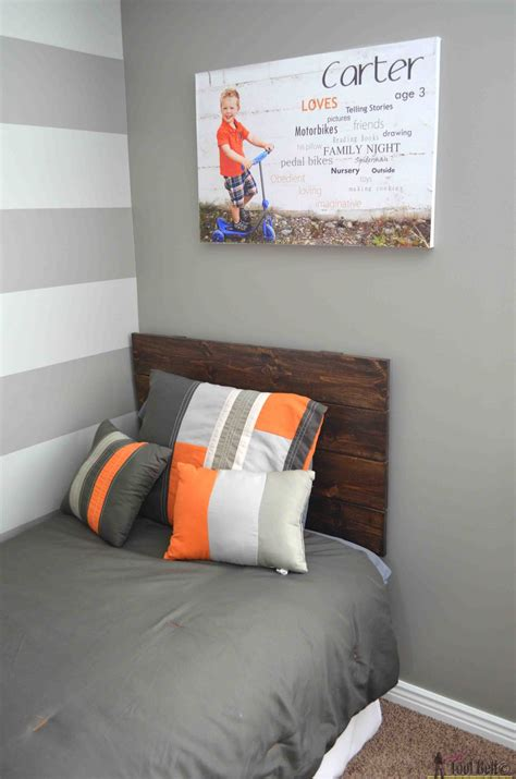simple headboards simple headboard and dusty theme room her tool belt