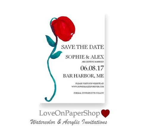 save the date template printable invitation red rose bloom