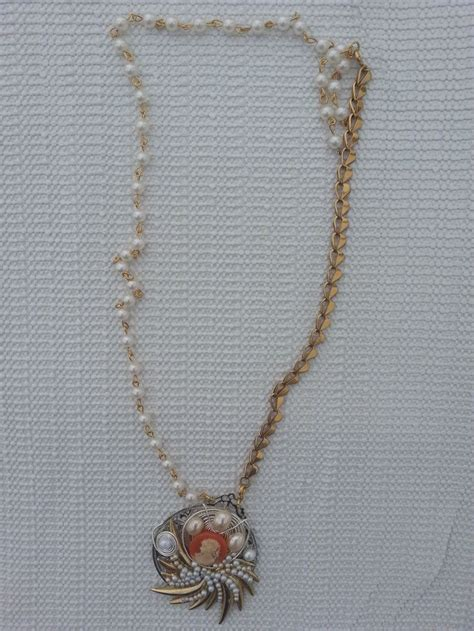 using rosary this necklace was made using rosary chain some of those