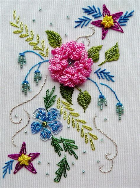 embroidery design pattern images embroidered flowers embroidery pinterest