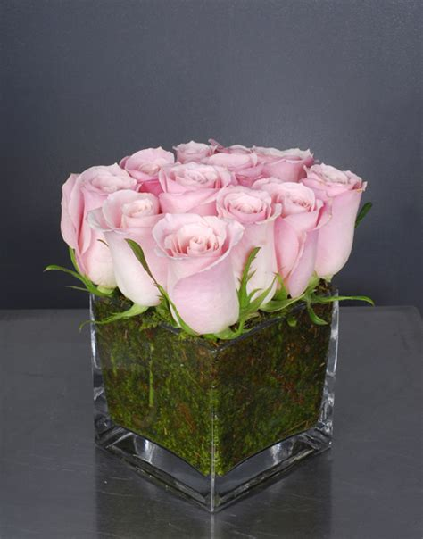 Flowers In Square Vase by Arrangements On Yellow Roses Topiaries