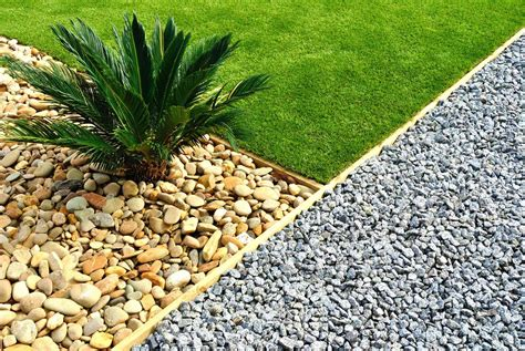 bg front yard rock landscaping green grass ryno lawn