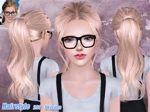the sims 4 cc hair ponytail skysims hair 201