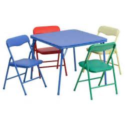 Childrens Folding Table And Chairs Flash Furniture 5 Folding Square Table And Chair Set Walmart