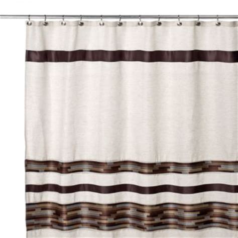 And Brown Shower Curtain by Buy Brown Shower Curtains From Bed Bath Beyond