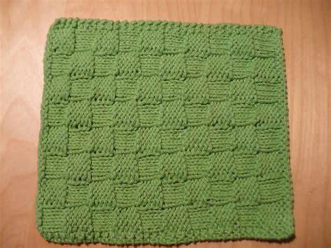 checkered knitting pattern granola knitting project checkerboard dishcloth