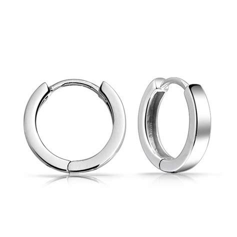classic 925 sterling silver huggie hoop earrings