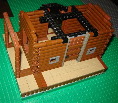 lego log cabin lego log cabin version 5 gallaghersart