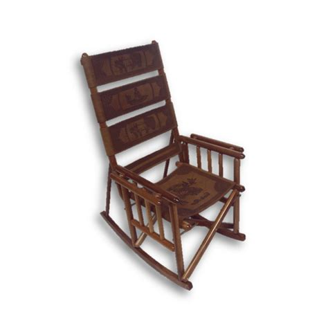 high back rocking chair costa rica leather wood rocking