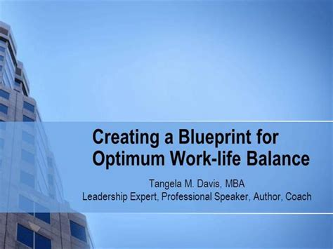 Mba Coding Work Balance by Creating A Blueprint For Optimum Work Balance