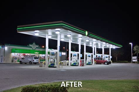 Gas Station Light Fixtures Led Canopy Light Synergy Lighting