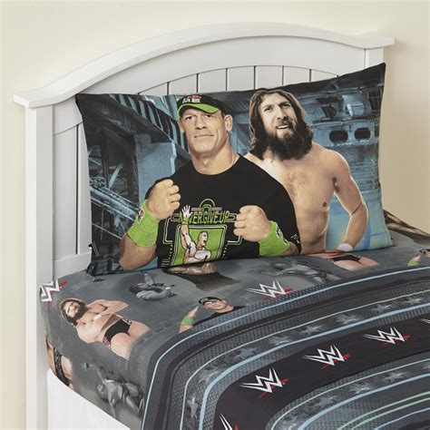 wwe bed set wwe 3 piece sheet set superstars home bed bath