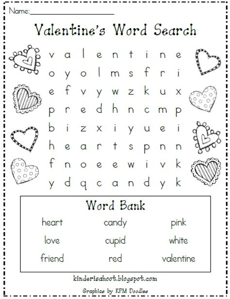 printable valentine word search 1st grade kindergarten is a hoot valentine s day word search