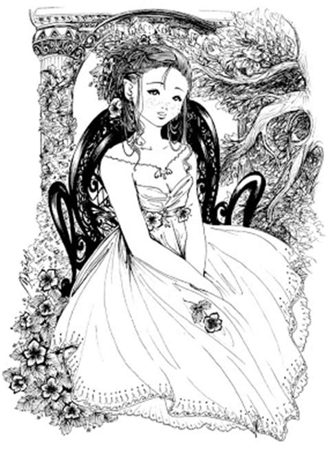 Princess Coloring Pages Detailed Princess Coloring Pages Printable