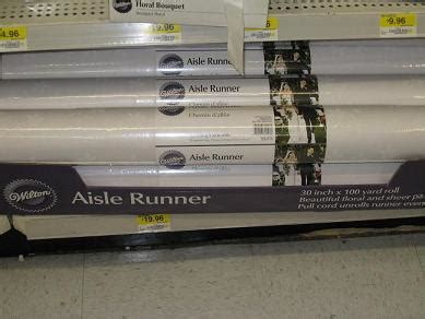 Wedding Aisle Runner Walmart by Walmart Is Still The Best Wedding Planning
