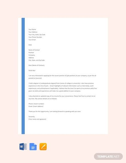cover letter templates ready