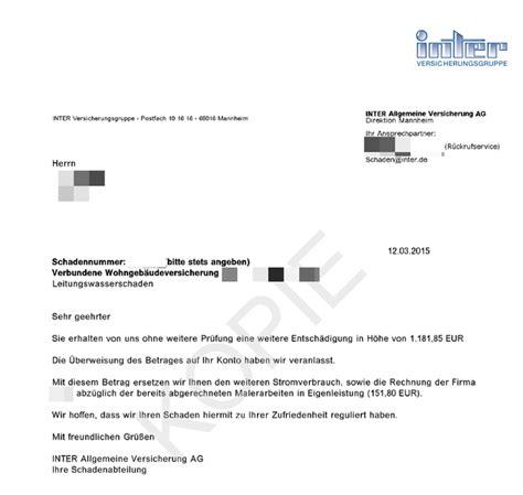 Muster Rechnung Wasserschaden Neue Rubrik Die Versicherung Zahlt Finanzberatung Bierl