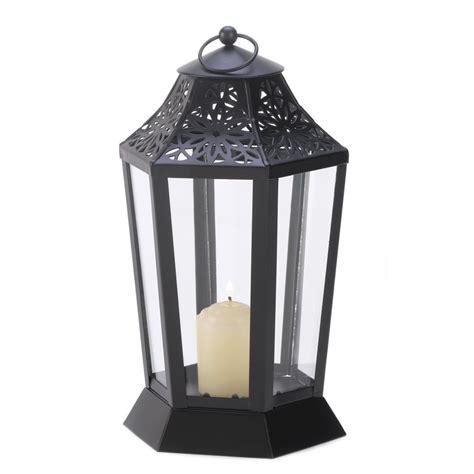 jet black garden candle lantern hurricane style l