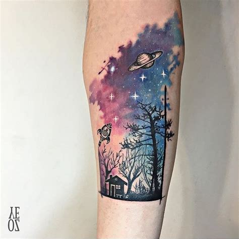 starry sky tattoo best 25 sky tattoos ideas on watercolor