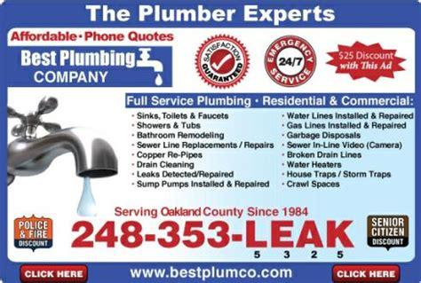 Royal Oak Plumbing by Best Plumbing Local Plumber Royal Oak Mi