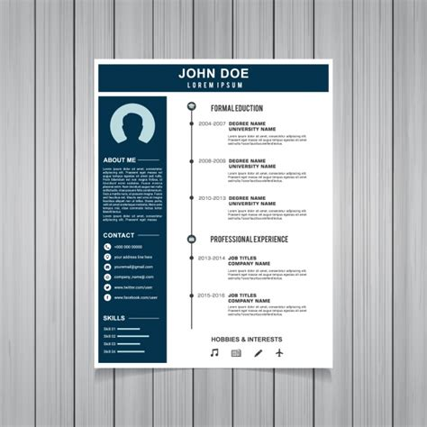 Free Curriculum Template by Curriculum Template Design Vector Free