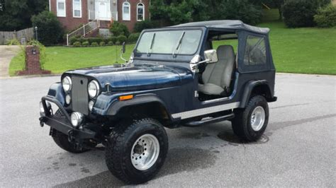 navy blue jeep seller of classic cars 1979 jeep cj navy blue light gray