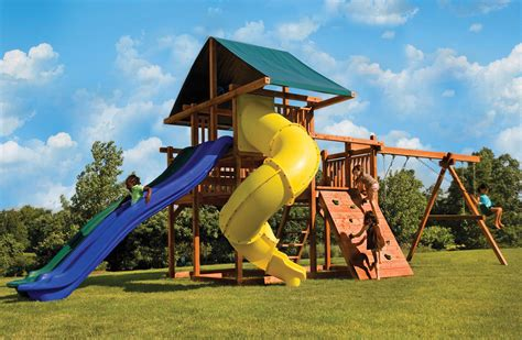 huge swing sets a big backyard swing set with multiple slides high wire