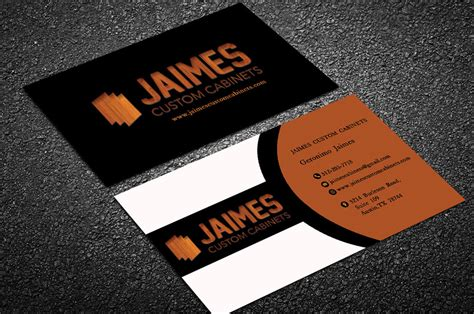 Furniture Cabinets Jaimes Custom Cabinets Business Cards First Draft 6