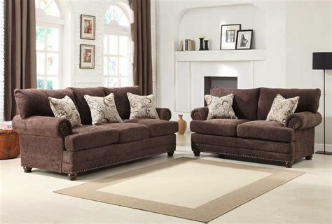 homelegance sofa set chocolate chenille u9729 3