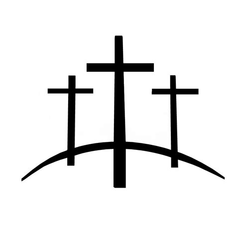 three cross tattoo calvary hill three crosses on a hill