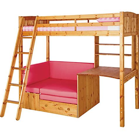 Metal High Sleeper Bed Frame by Sit N Sleep Metal High Sleeper Bed Frame Pink Futon