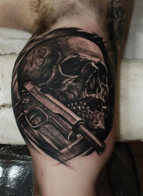 bullet hole tattoo designs skull with bullet www imgkid the image