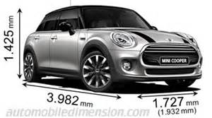 Mini Cooper Length Dimensions Of Mini Cars Showing Length Width And Height