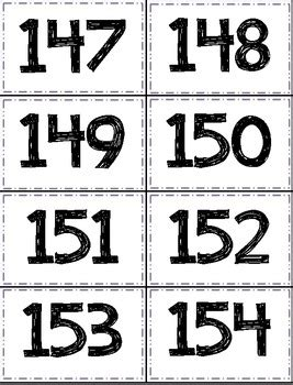 printable number flashcards 1 1000 number cards 1 1 000 by cherry rocks teachers pay teachers