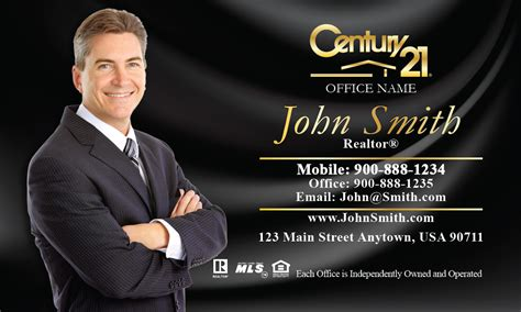 Century 21 Gift Card - century 21 business card black silk with photo design 102141