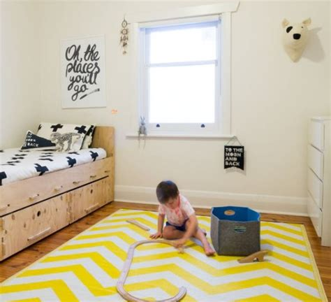 rugs for boys room small monochrome boy s room with yellow rug kidsomania
