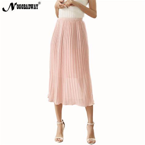 Annbaby 8 H Skirt Rok Korea nogobadway high quality korean casual midi skirt 2017 summer fashion black pleated skirt