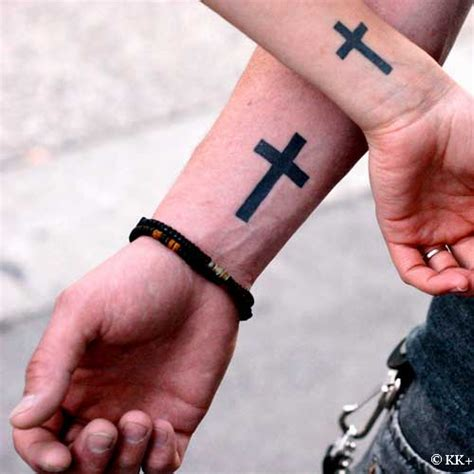 christian tattoos on wrist cross gallery