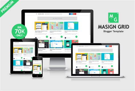 grid design adalah masign grid premium material design blogger template