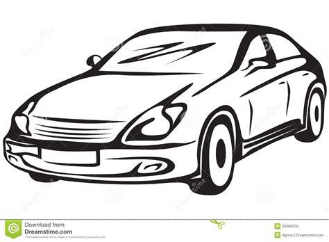 imagenes blanco y negro de autos contorno del autom 243 vil foto de archivo libre de regal 237 as
