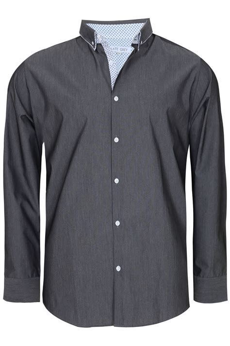 Lgs Grey Shirt Size M slate grey grey formal sleeve shirt large sizes m l 1xl 2xl 3xl 4xl 5xl