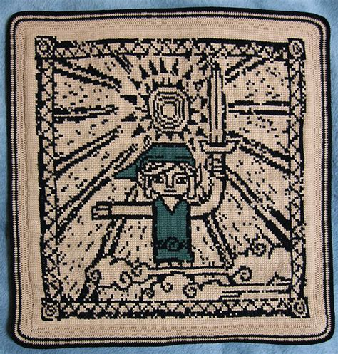 wind waker zelda pattern crocheted afghan the legend of zelda the wind waker