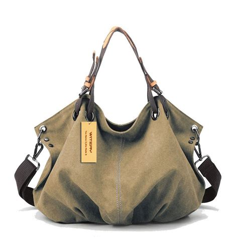 Womens Large Capacity Shoulder Bag s large capacity waterproof vintage canvas tote handbag shoulder bag ebay