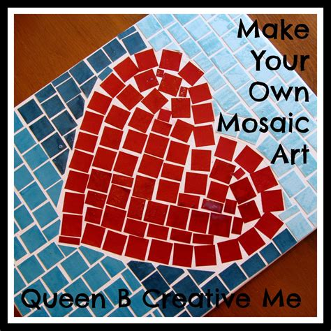 How To Make Paper Mosaic - pocket of pink your own mosaic