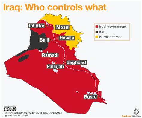 map of iraq iraq war map who controls what al jazeera