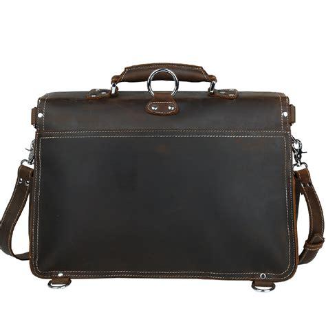 Handmade Briefcase Leather - s handmade vintage leather briefcase leather satchel