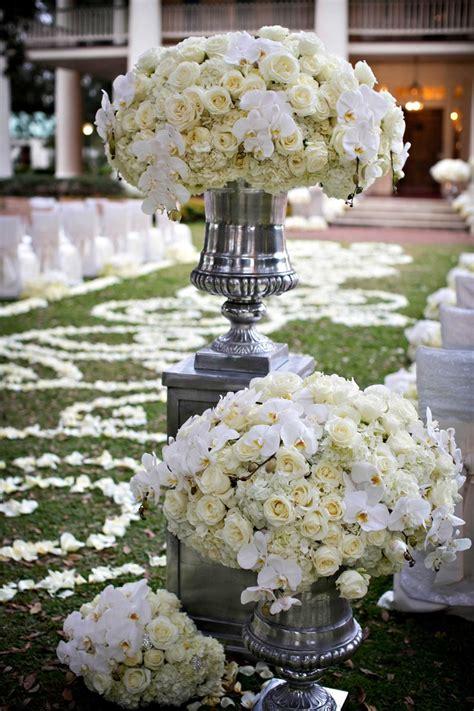 Wedding Ceremony Arrangements by Ceremony D 233 Cor Photos White Flower Arrangement In Silver
