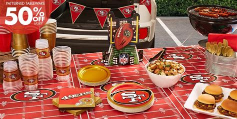 san francisco themed decorations nfl san francisco 49ers supplies city